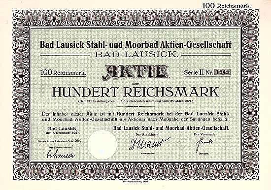 Bad Lausick Stahl- und Moorbad AG