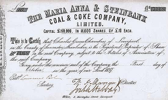 Maria Anna & Steinbank Coal & Coke Co.