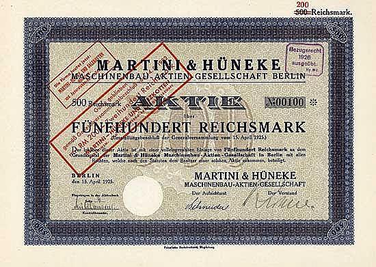 Martini & Hüneke Maschinenbau-AG