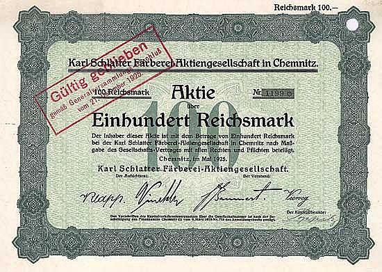 Karl Schlatter Färberei-AG