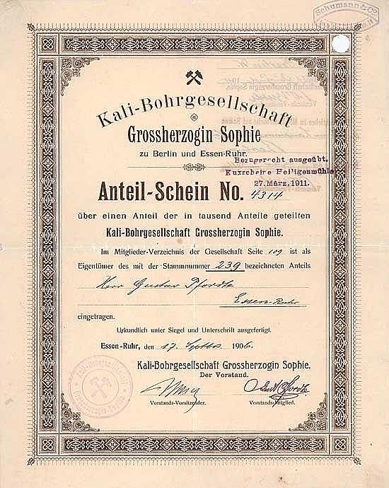 Kali-Bohrgesellschaft Grossherzogin Sophie