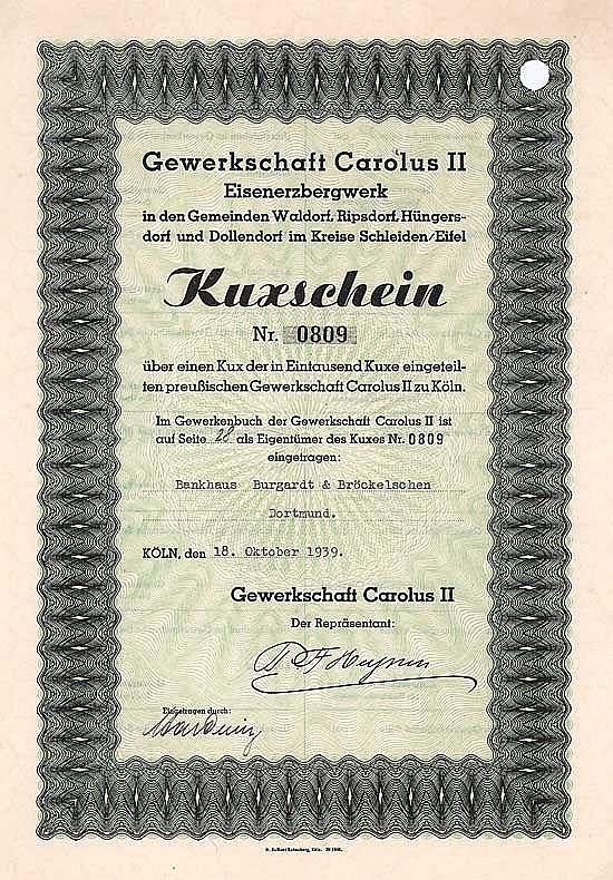 Gewerkschaft Carolus II Eisenerzbergwerk