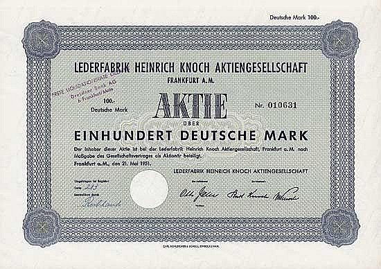 Lederfabrik Heinrich Knoch AG