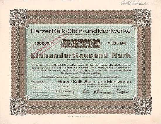 Harzer Kalk-Stein- und Mahlwerke KGaA