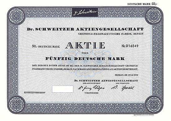Dr. Schweitzer AG Chemisch-Pharmazeutische Fabrik