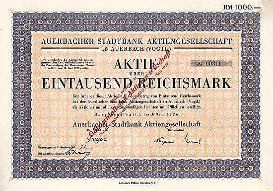 Auerbacher Stadtbank AG