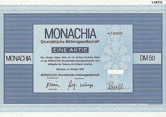 MONACHIA Grundstücks-AG
