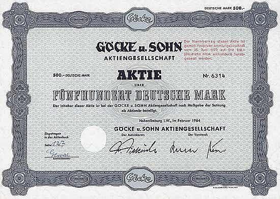 Göcke u. Sohn AG