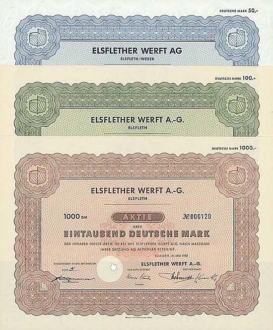 Elsflether Werft AG (6 Stücke)