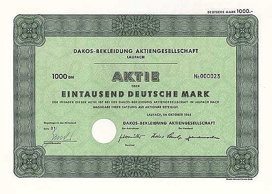 Dakos-Bekleidung AG