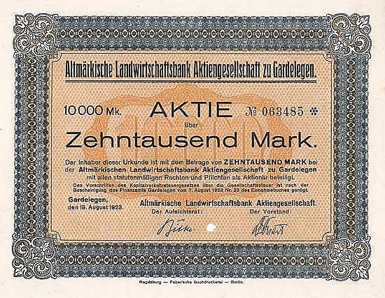 Altmärkische Landwirtschaftsbank AG
