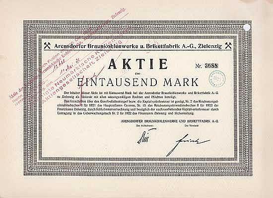 Arensdorfer Braunkohlenwerke u. Brikettfabrik AG