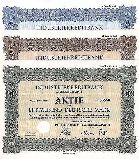 Industriekreditbank AG (6 Stücke)