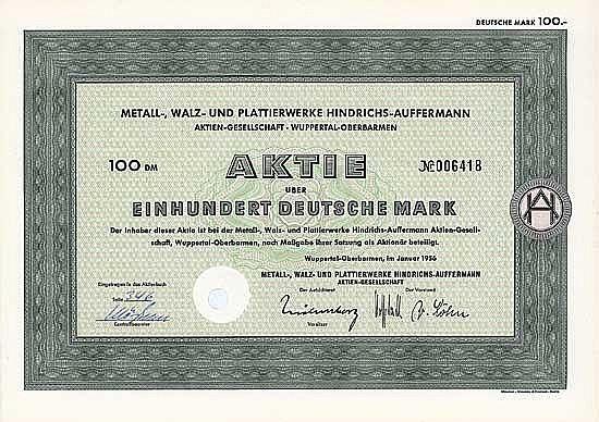 Metall-, Walz- und Plattierwerke Hindrichs-Auffermann AG