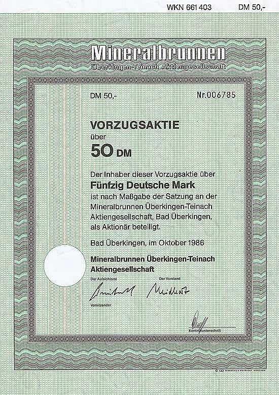 Mineralbrunnen Überkingen-Teinach AG