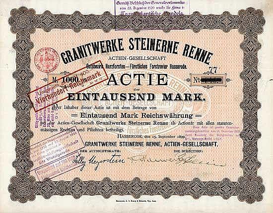 Granitwerke Steinerne Renne AG