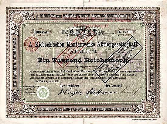 A. Riebeck'sche Montanwerke AG