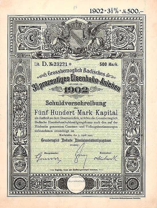 Grossherzoglich Badisches Eisenbahn-Anlehen