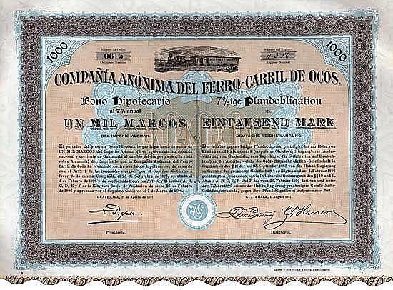 Cia. Anonima del Ferro-Carril de Ocós (Ocos-Eisenbahn-AG)