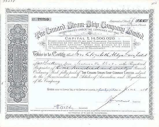 Cunard Steam-Ship Co. Ltd.