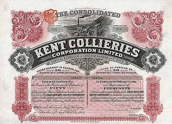 Kent Collieries Corp.