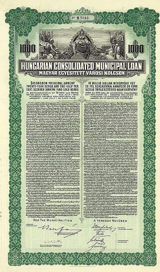 Hungarian Cons. Municipal Loan