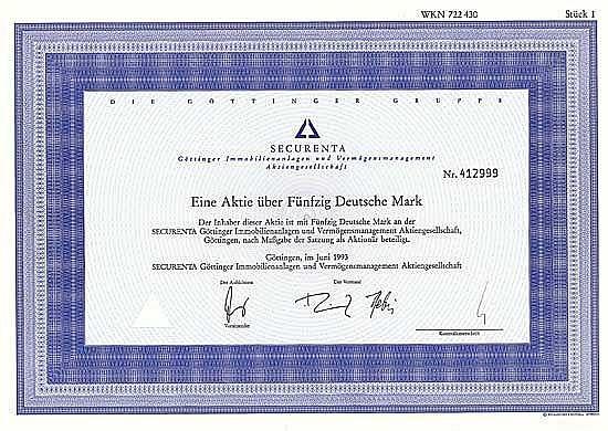 SECURENTA Göttinger Immobilienanlagen und Vermögensmanagement AG