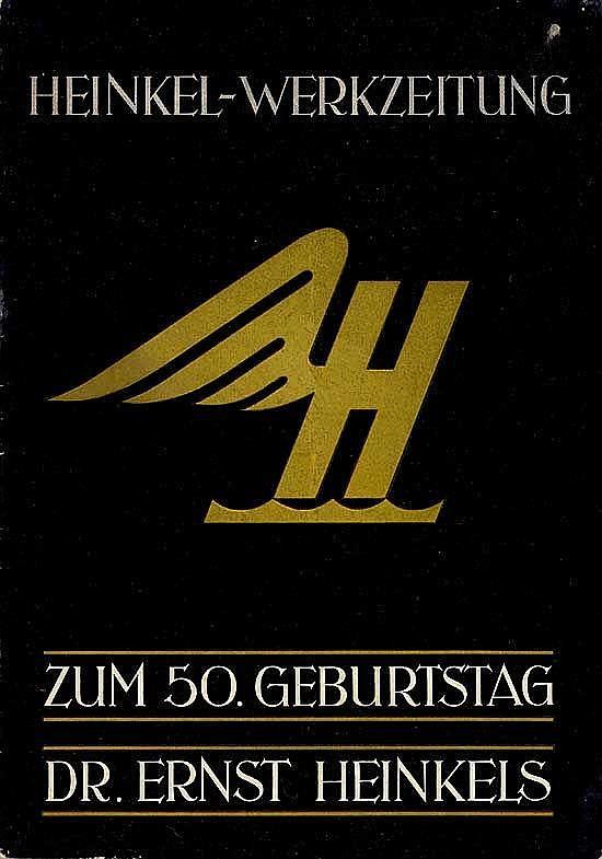 Heinkel - Werkzeitung Nr. 1, zum 50 Geburtstag Dr. Ernst Heinkels