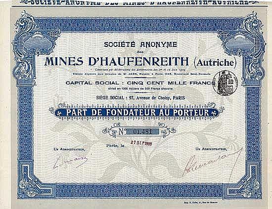 S.A. des Mines d'Haufenreith (Autriche)