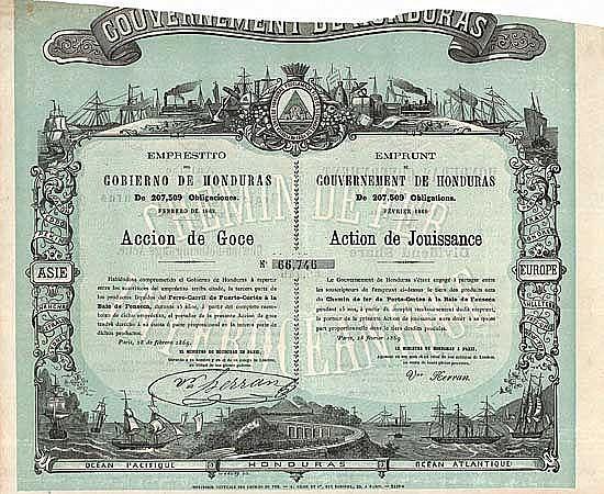 Gouvernement de Honduras, Chemin der Fer de Porto-Cortes à la Baie de Fonseca