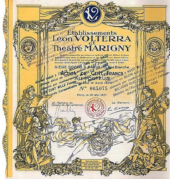 Etablissements Léon Volterra et Théatre Marigny