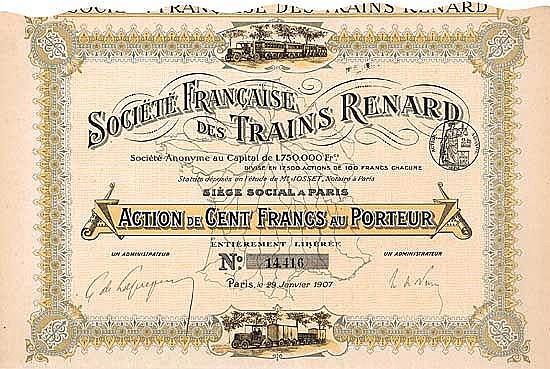 Soc. Francaise des Trains Renard S.A.