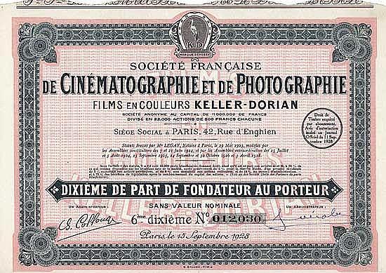 Soc. Francaise de Cinématographie et de Photographie Films en Couleurs Keller-Dorian S.A.