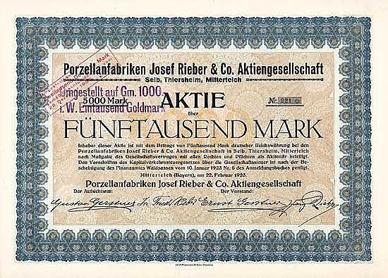 Porzellanfabriken Josef Rieber & Co. AG