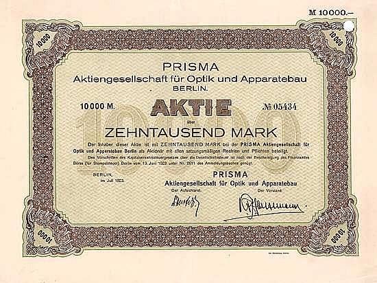 PRISMA AG für Optik und Apparatebau