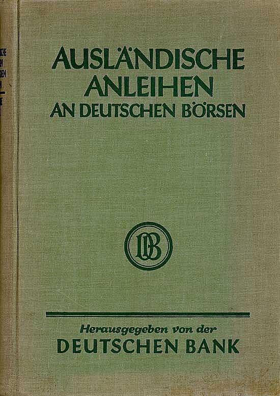 Ausländische Anleihen an deutschen Börsen 1927