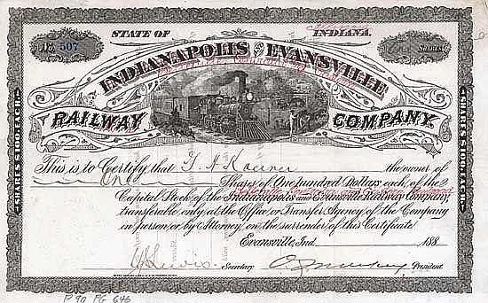 Belleville, Centralia & Eastern Railroad (Indianapolis & Evansville Railway)