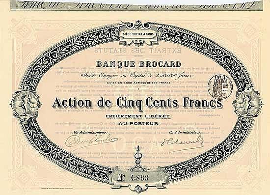 Banque Brocard S.A.