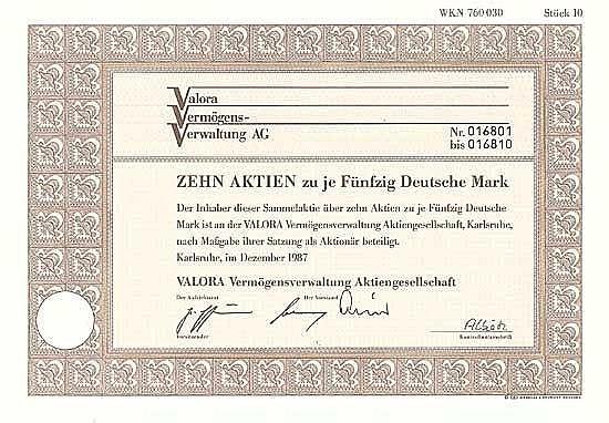 VALORA Vermögens-Verwaltung AG