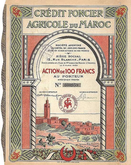 Crédit Foncier Agricole du Maroc S.A.