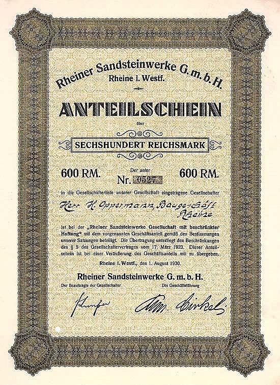Rheiner Sandsteinwerke GmbH