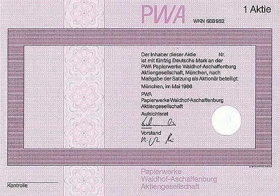 PWA Papierwerke Waldhof-Aschaffenburg AG