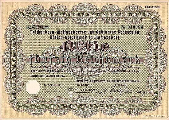 Reichenberg-Maffersdorfer und Gablonzer Brauereien AG