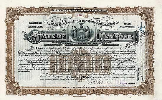 State of New York, Loan for Canal Improvement