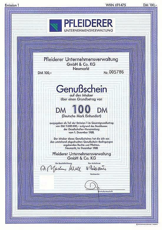 Pfleiderer Unternehmensverwaltung GmbH & Co. KG