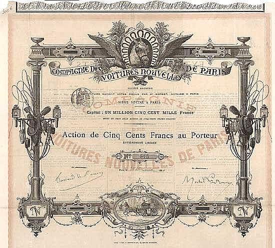 Cie. des Voitures Nouvelles de Paris S.A.