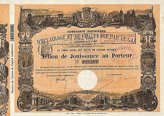 Cie. Parisienne d'Éclairage et de Chauffage par le Gaz S.A.