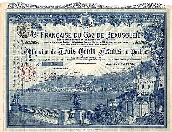 Cie. Francaise du Gaz de Beausoleil S.A.