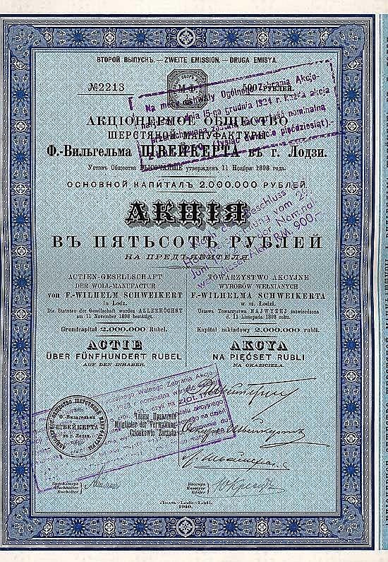 AG der Woll-Manufactur von F.-Wilhelm Schweikert