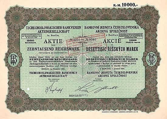 Tschechoslowakischer Bankverein AG